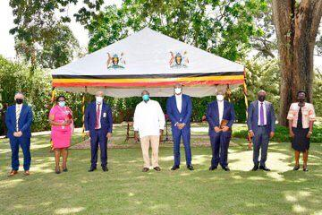 MTN Group delegation at State House to meet MUseveni